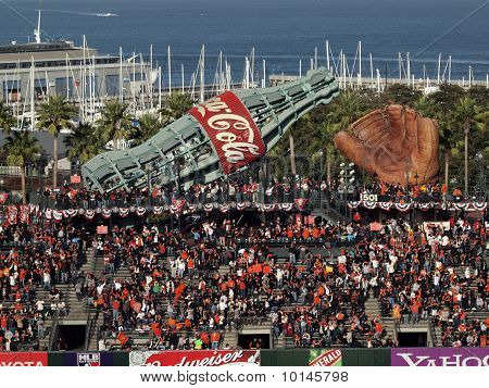 Fans Fill Into The Bleacher Section Of Ballpark Before Start Of Nlcs Game