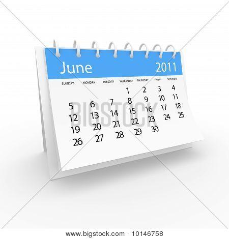 Calendar 2001 june