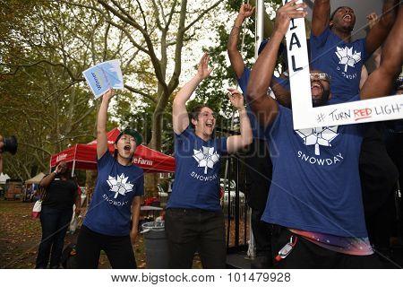 Snowday crew celebrates win