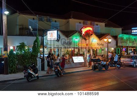 Restaurant At The Main Road Of Laganas