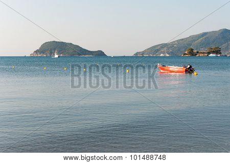 Lifeboat In The Laganas Bay, Zakynthos Island
