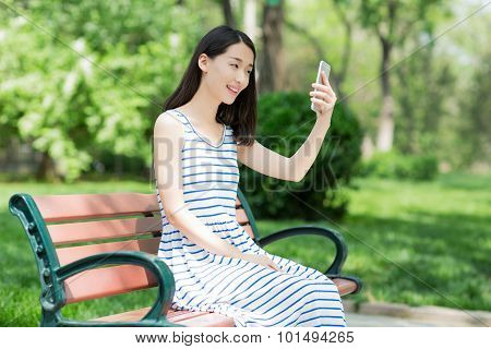 Girl And Mobile Phone