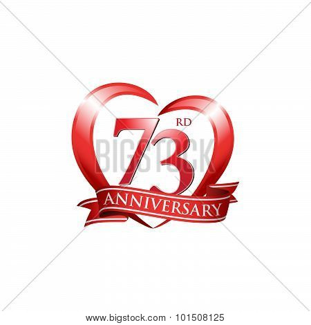 73rd anniversary logo template.  Creative design. Business success poster
