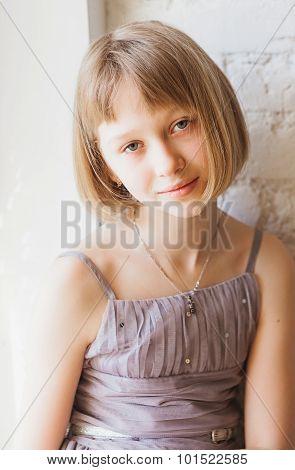 Sad girl, close up