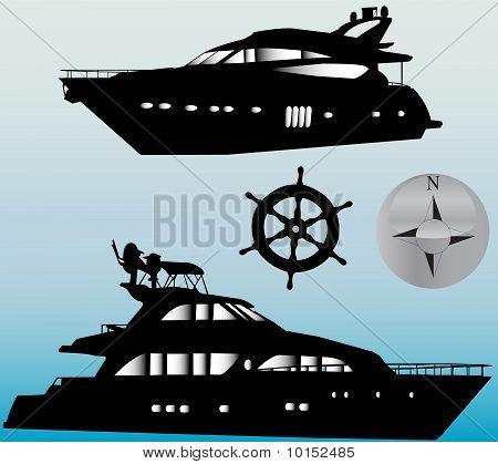 yacht - vector