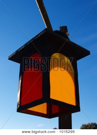 Colorful Lantern Against A Blue Sky