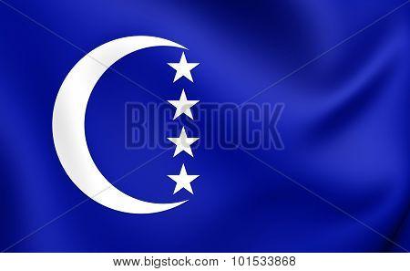 Flag Of Grande Comore, Comoros.