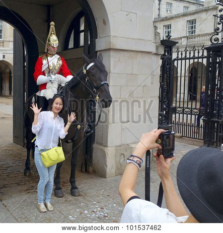 Household Cavalry in London