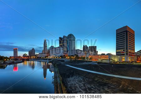 Downtown panaoramic at dawn