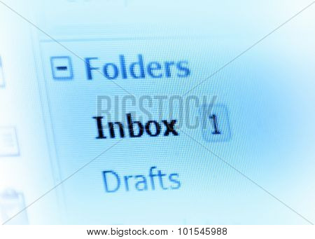 email inbox on monitor screen