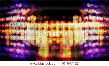 Futuristic Screen Display Pixels 10481
