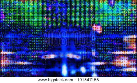 Futuristic Screen Display Pixels 10482