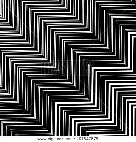 Stylish Decorative Background with  Zigzags