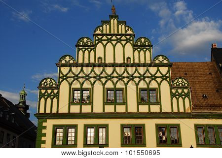 Historical house facade in Weimar