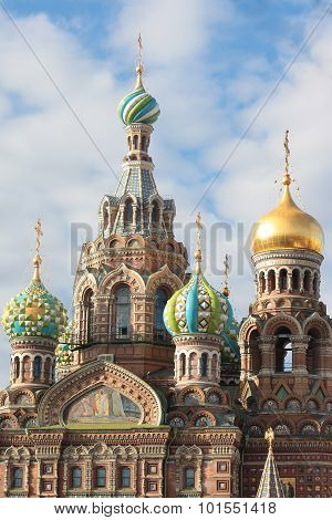 Orthodox Church of the Savior on blood in summer. Saint-Petersburg, Russia poster