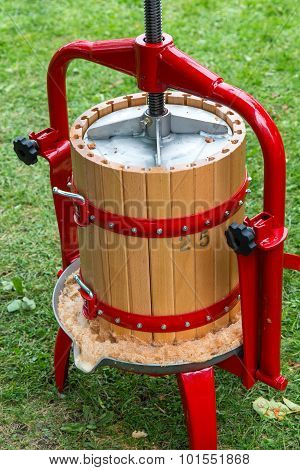 Traditional Apple Press - Close Up