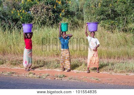 Three Woman In Malawi
