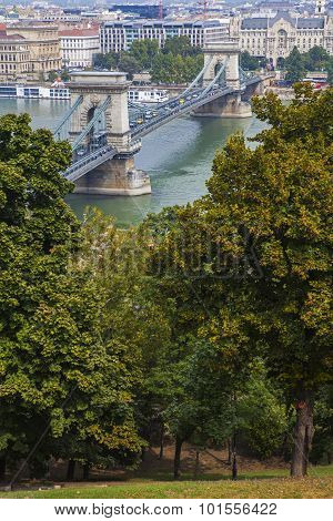 View From Castle Hill In Budapest