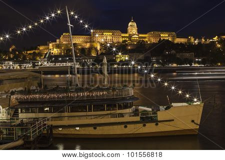 Buda Castle And The River Danube In Budapest
