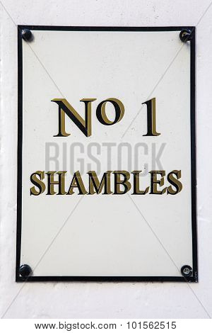 Number 1 The Shambles