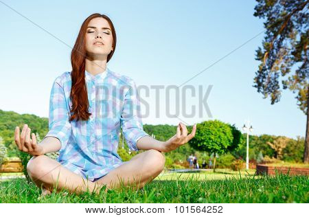 Teen girl in the park.