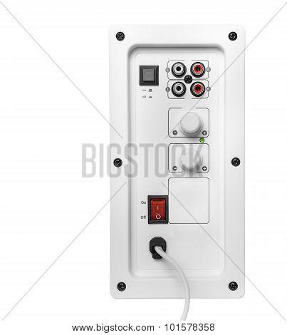 Volume control panel.