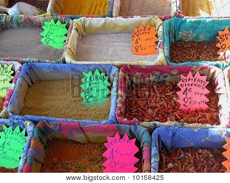 Spices in market, Nice