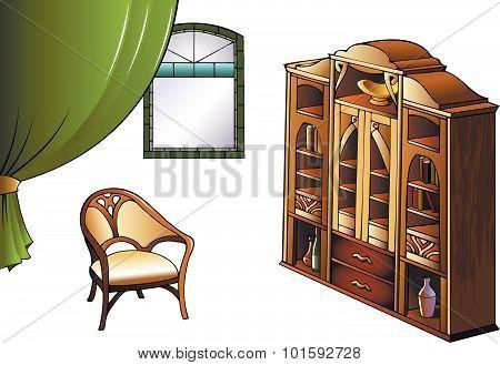 Furniture of Modern Art style
