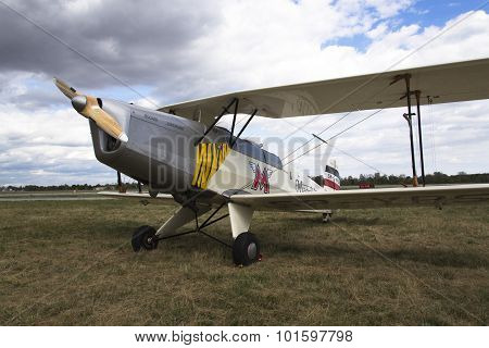 German Training Aircraft Bücker Bü 131 Jungmann Used By Luftwaffe During World War Ii.