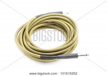 Jack promises audio cables on the white background.