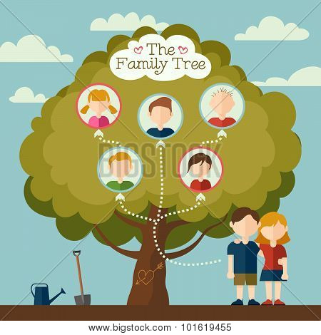 The Family Tree Vector Illustration