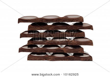 Stack Of Black Chocolate
