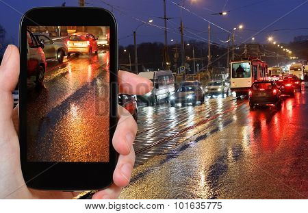 Photographs Picture Of Night Car Traffic