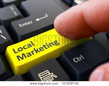 Local Marketing - Clicking Yellow Keyboard Button.