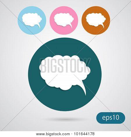 Bubbles Icon, Vector Illustration. Flat Design Eps 10