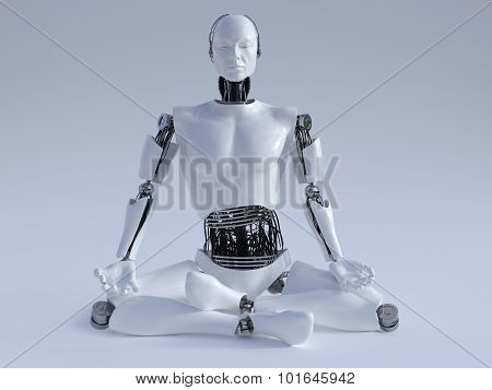 Robot Man Meditating Nr 1.
