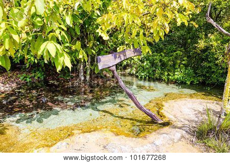 An Ascetic Is Name Of Beautiful Spring Pool
