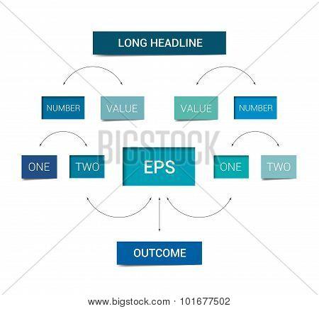 Flowchart Scheme. Infographics Chart Element. Simply Flat Design. poster