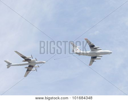 Il-78 And Tu-95 Over Moscow
