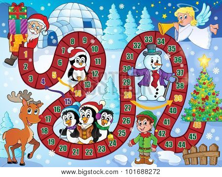 Board game image with Christmas theme 1 - eps10 vector illustration.