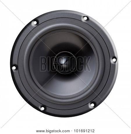 woofer speaker isolated on white