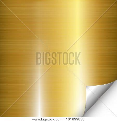 Gold Metal Silver Corner