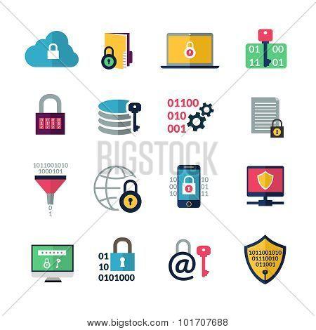 Data Encryption Icons