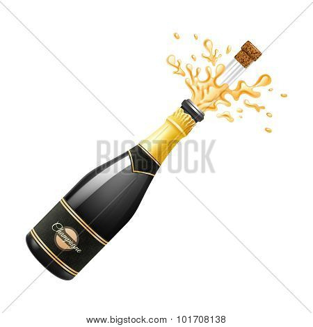 Champagne Explosion Illustration