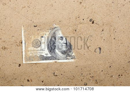 Dollars in the sand