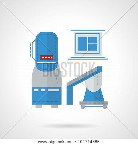 Flat color MRI equipment vector icon
