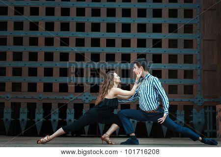 Couple Dancing Passionate Dance.