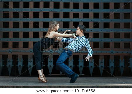 Young Couple Dancing The Dance.