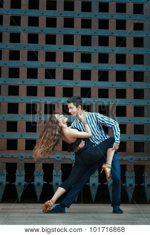 Passionate Dance Boy And Girl.