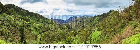 Panoramic  View Of Serra Malagueta Mountains In Santiago Island Cape Verde - Cabo Verde